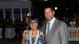 Herec Denzel Washington a jeho manželka Pauletta Washington.