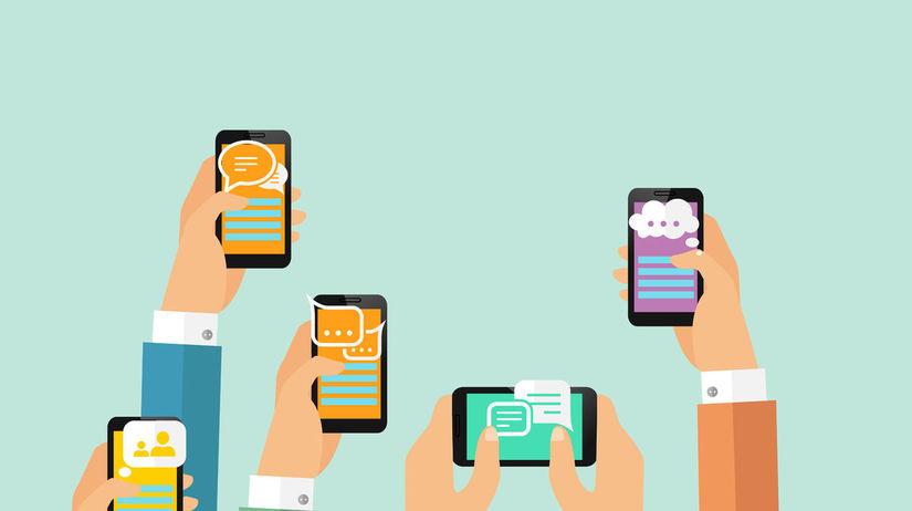 smartfón, mobil, SMS, telefonovanie, správa,...