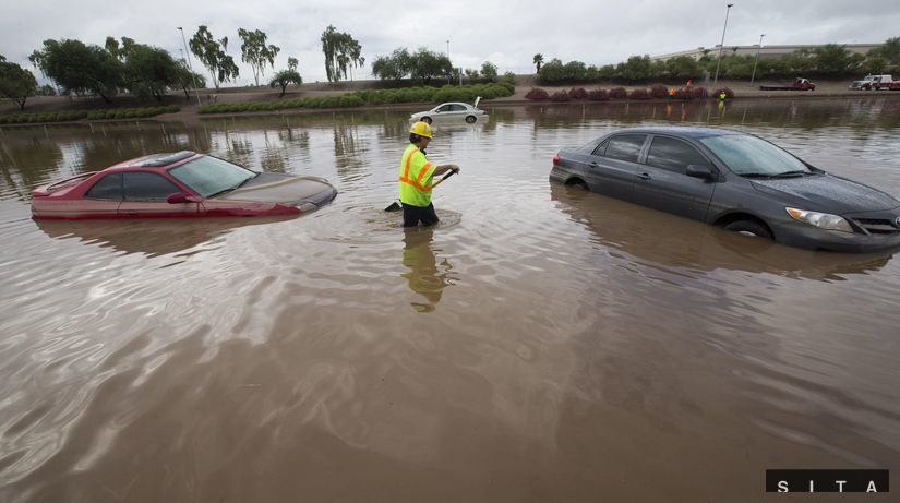 povodne, záplavy, Arizona