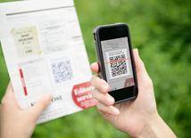 mobil, QR kód, komunikácia, faktúra