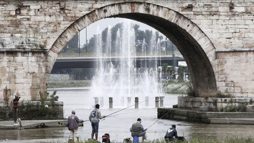 rybár, rybolov, Macedónsko, Skopje
