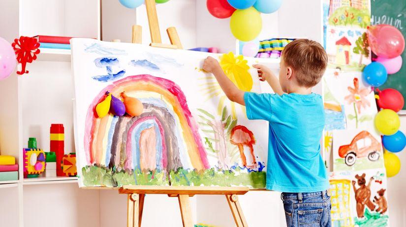 škôlkar, maľovanie, škôlka,