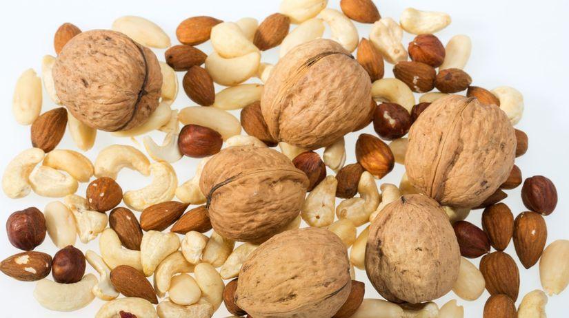 orechy, semená, rastlinné oleje