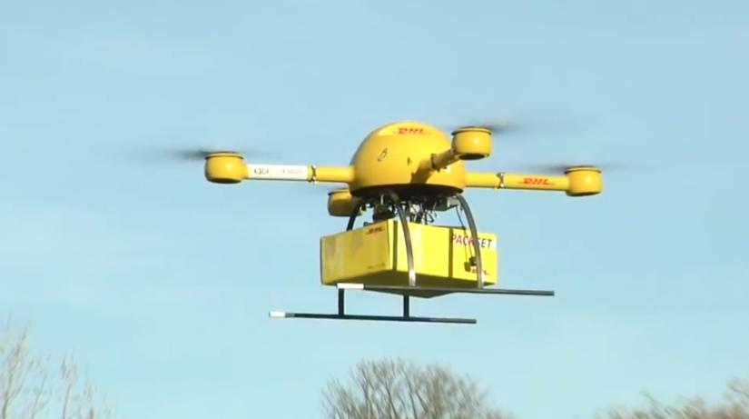 DHL, bezpilotné lietadlá, dron