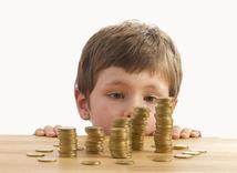 finančná gramotnosť, dieťa, peniaze