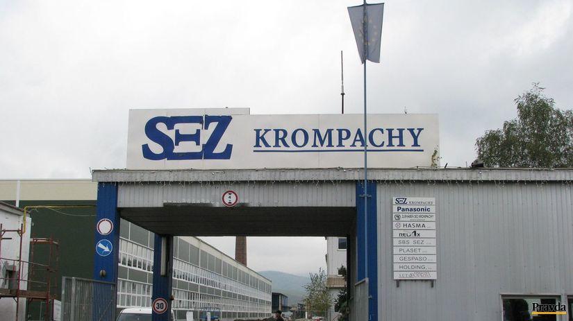Krompachy, Panasonic, SEZ, priemyselný park