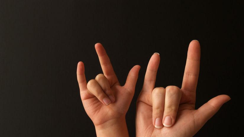 posunková reč, posunok, nepočujúci, hluchý