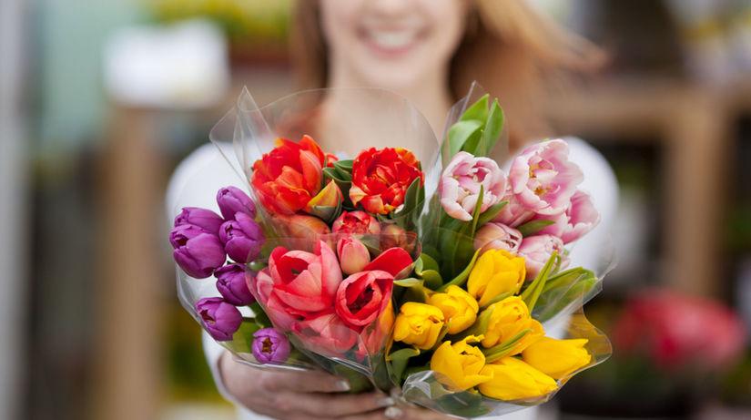 kvety, žena, kytica