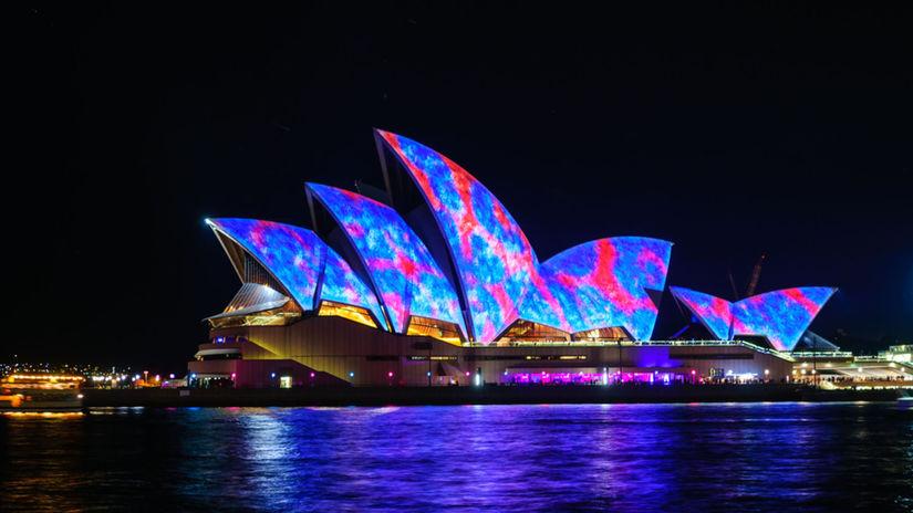 Sydney, opera, australia, inštalácia