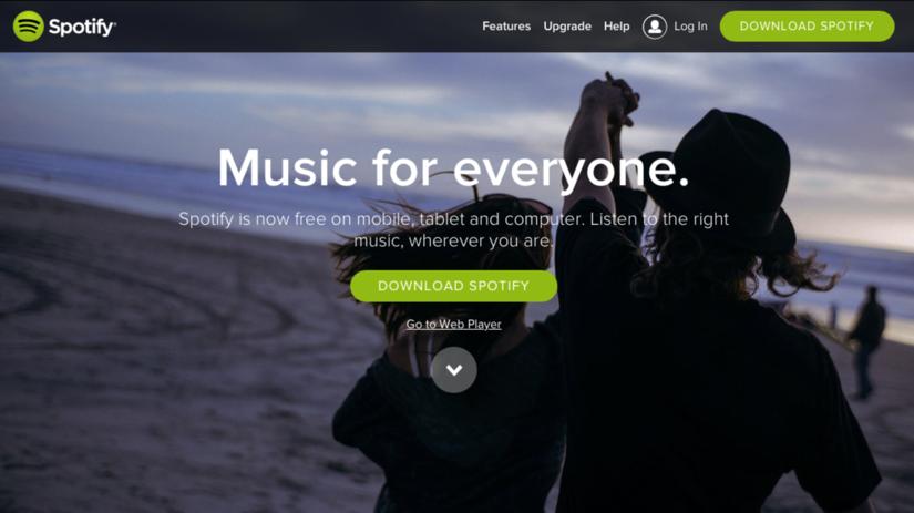 Spotify, hudobná služba