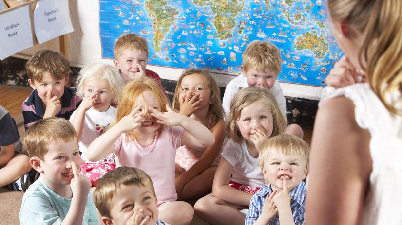 škôlka, deti, kolektív, vyučovanie