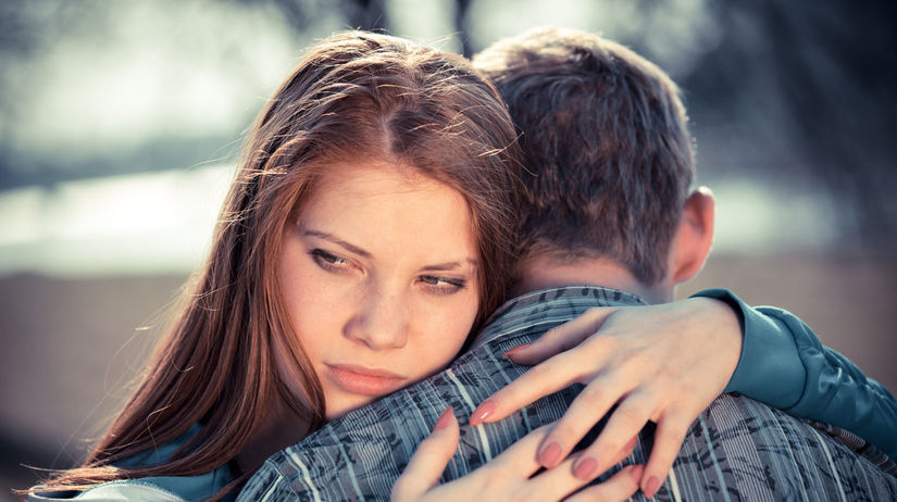 láska, pár, objatie, rande