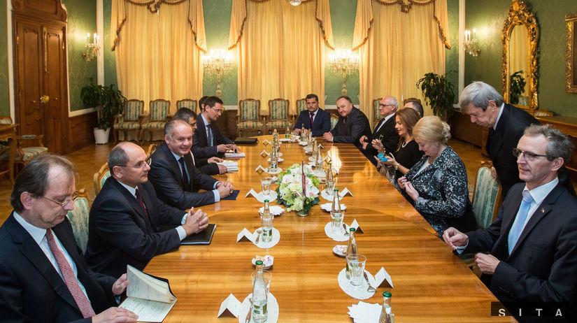 Andrej Kiska, prezident, europoslanci, stretnutie