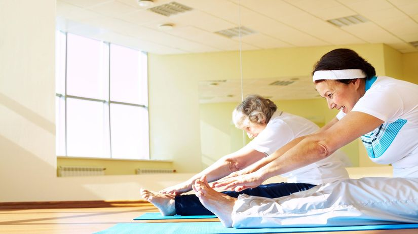 ženy, cvičenie, joga, pilates, strečing