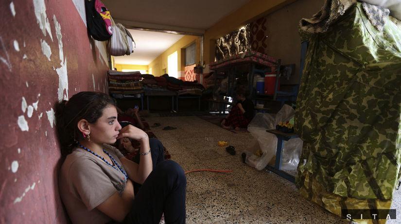 Jezídi, dievča, IS, Irak
