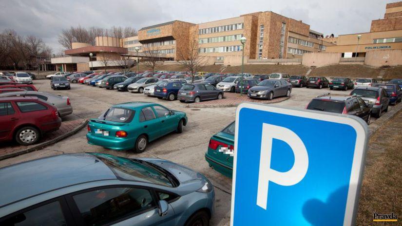 Nemocnica, Antolská, parkovanie