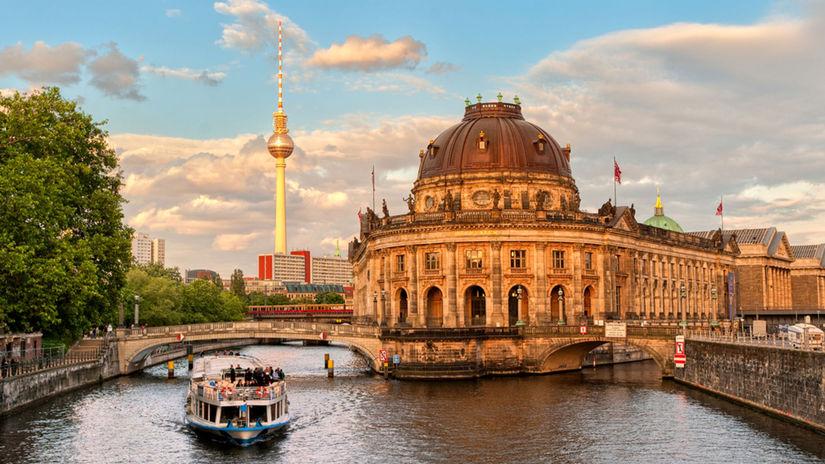 Berlín, múzeum, veža, Nemecko, rieka, Spréva,...