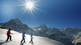 Jungfrau Region, Svajciarsko, hory, lyze, zima,