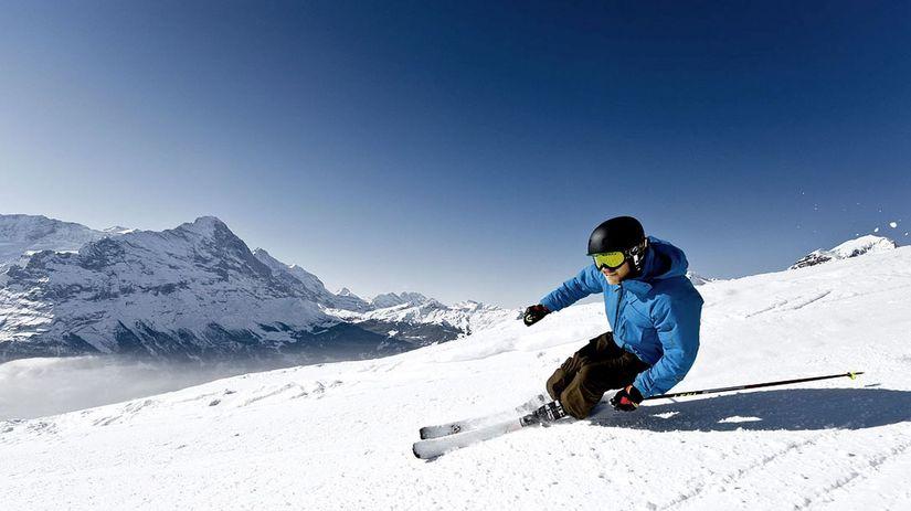 Jungfrau, Svajčiarsko, lyze, zima,