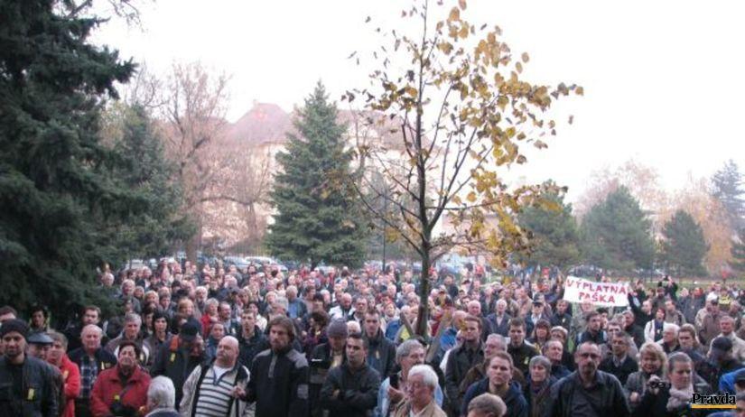 Košice, Paška, protest