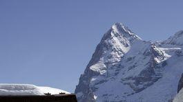 Mürren, zima,  Jungfrau Region, Svajciarsko, hory,