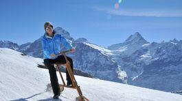 snezny bicykel, svajciarsko, Velogemel,  Jungfrau Region