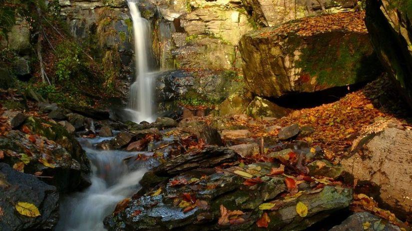 starohutsky vodopad, zarnovica,