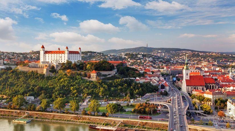 Bratislava, hrad, centrum, mesto,