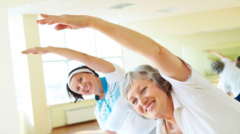 senior, pohyb, cvičenie, zdravý život