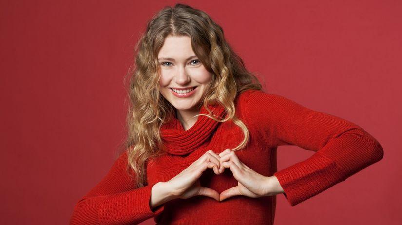 žena, srdce, láska