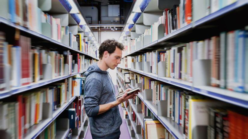 knižnica, študent