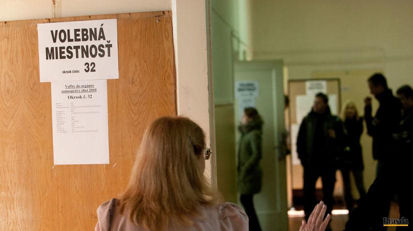 volebná miestnosť, voľby