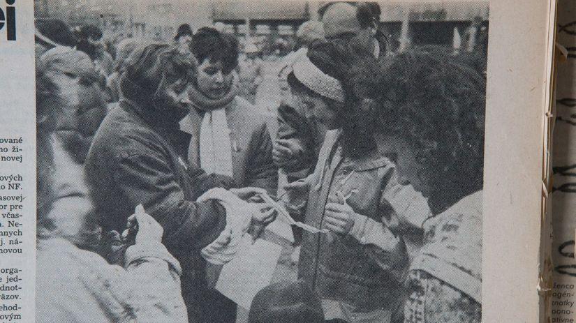 november 1989, Nežná revolúcia, Bratislava,...
