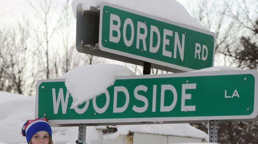 zima, sneh, USA
