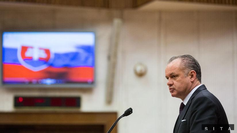 Andrej Kiska, prezident, NR SR, parlament, prejav,
