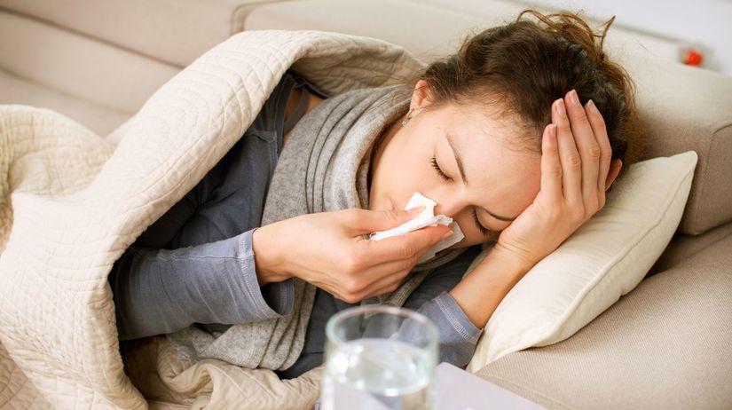 chrípka, kašeľ, prechladnutie, nádcha, sopeľ,...