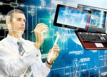 počítač, práca, analytik, IT, internet