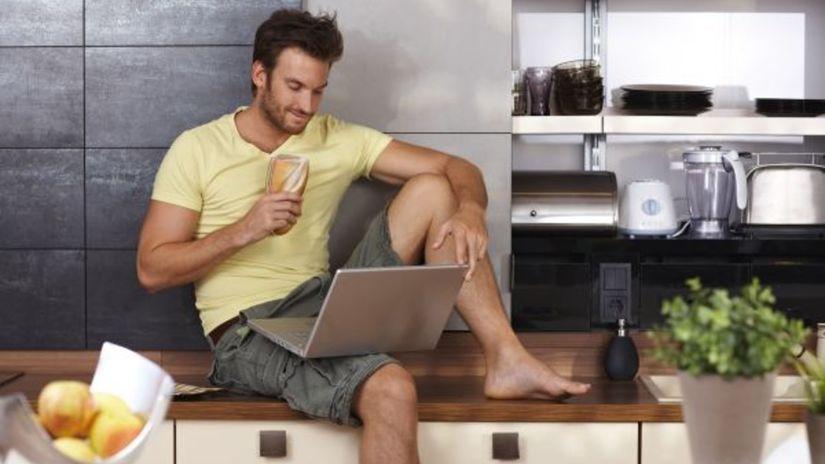 single, samotár, muž, domácnosť