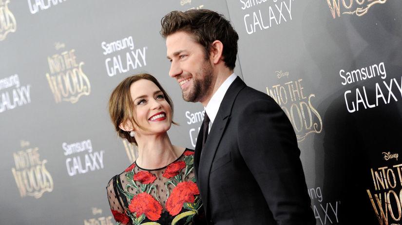 Herečka Emily Blunt a jej manžel John Krasinski.