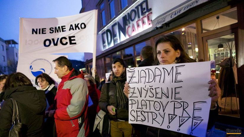 zdravotné sestry, protest, Piešťany