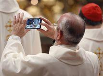 mobil, fotka, kňaz, Vatikán