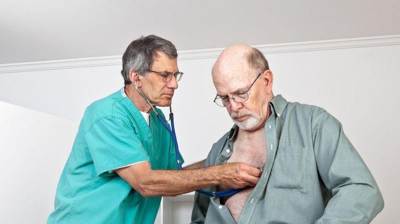 doktor, pacient, vyšetrenie, pľúca, dýchanie,...