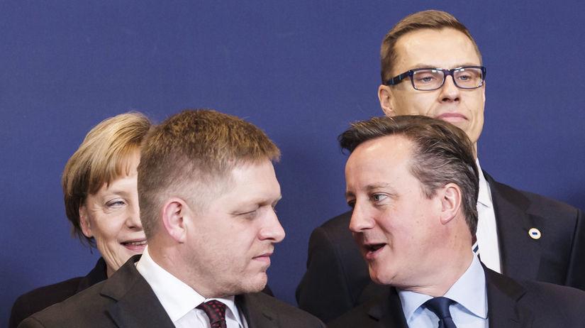 summit EÚ, Robert Fico, David Cameron