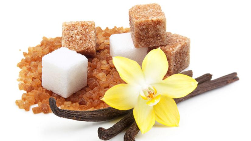 cukor, vanilka