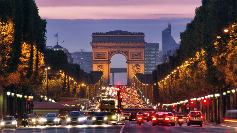 Champs-Elysées, Paríž, Francúzsko,