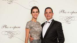 Herec a humorista Dano Dangl a jeho krásna manželka Beáta.