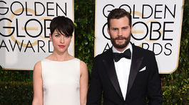 Amelia Warner a herec Jamie Dornan prišli spoločne.