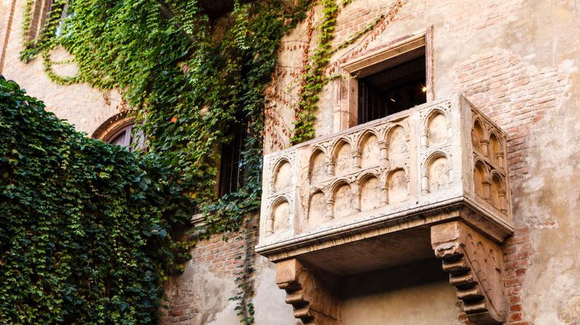 Verona, Taliansko, balkón, Rómeo, Júlia,...