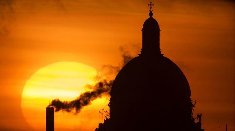 Petrohrad, katedrála, západ slnka