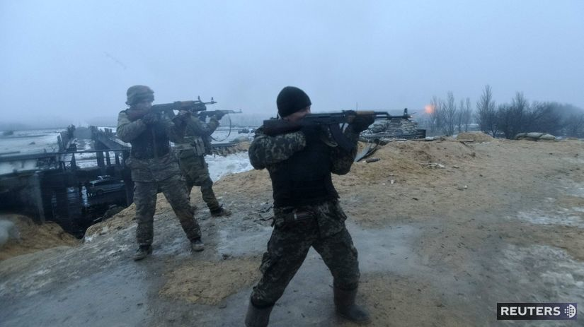 Ukrajina, Doneck, vojaci, zbrane,